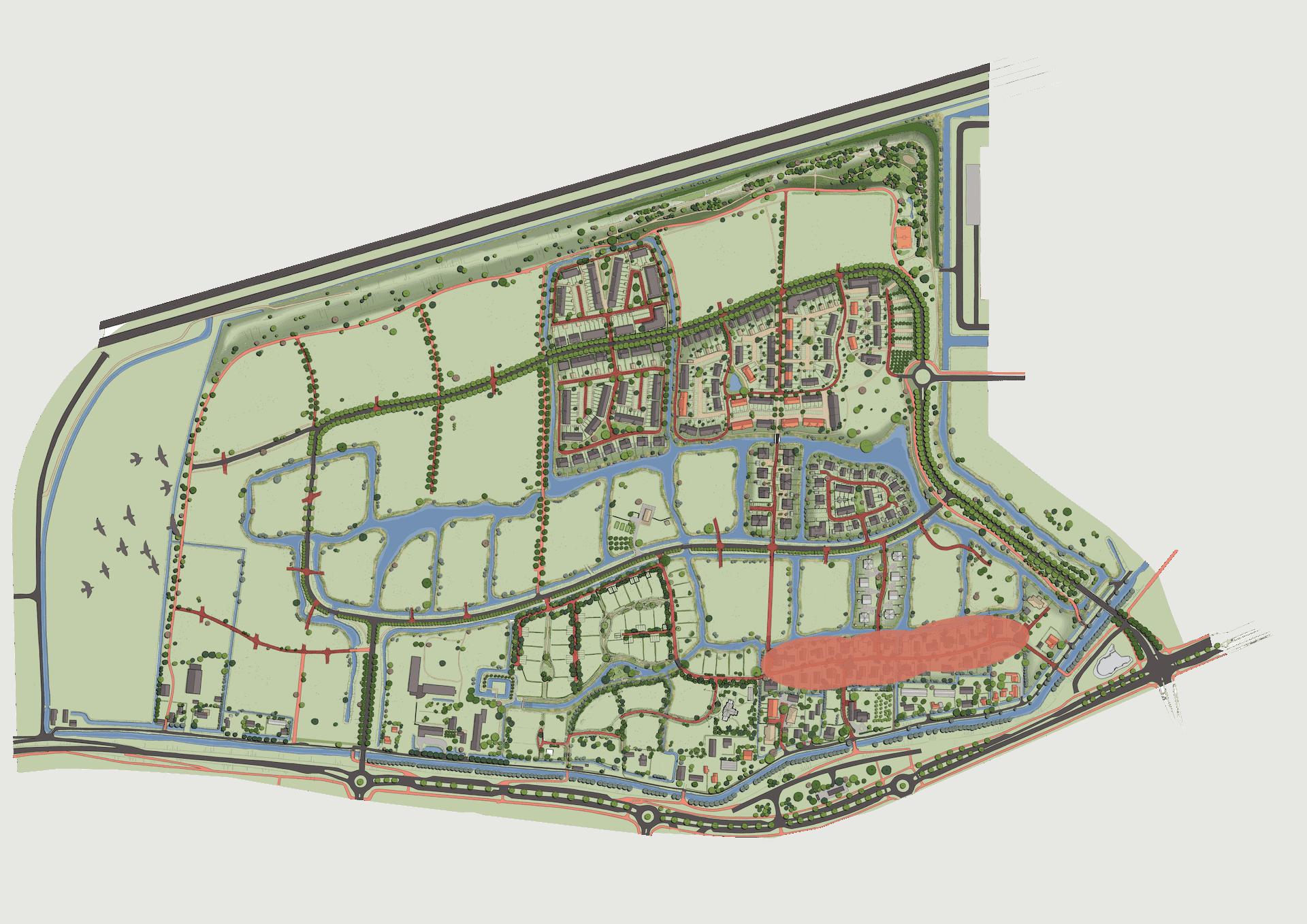 Plankaart Tweede Weverskade 2021