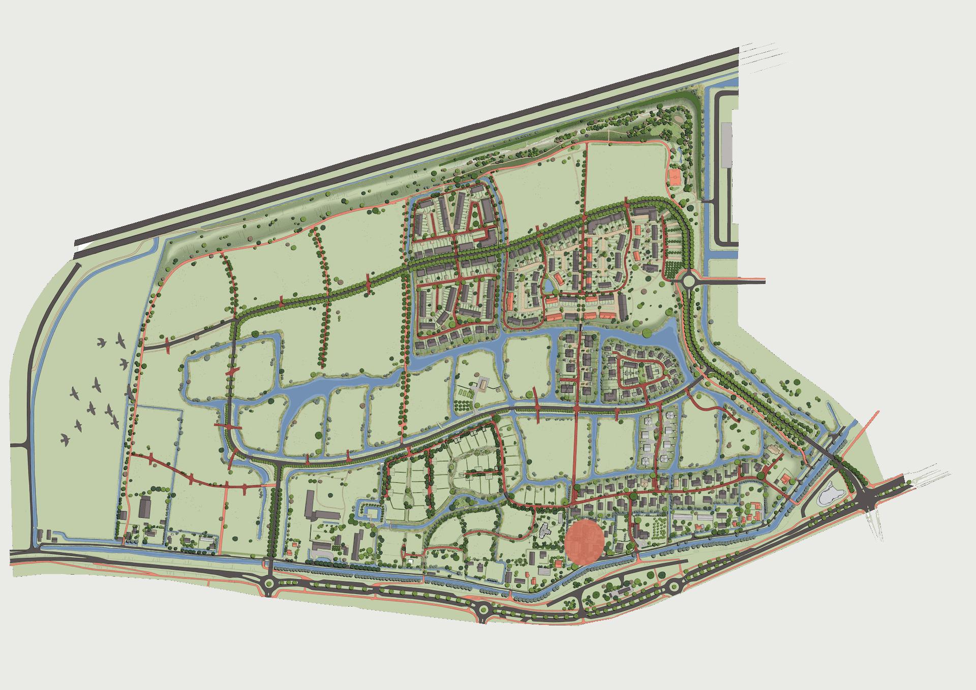 Plankaart Wevershof 2021