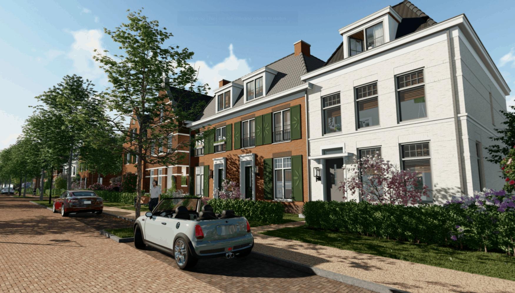 Verreweg Nieuw Hollands Huisstraataanzicht