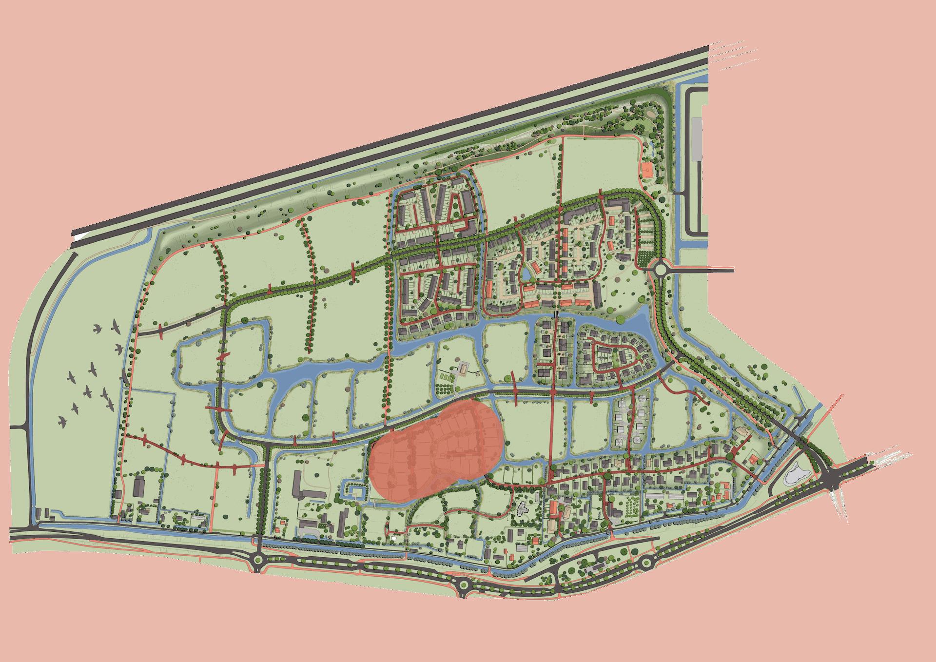 Wilgenrijk Plankaart Buurt Goedland